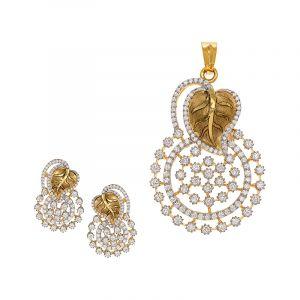 Leavia Diamond Pendant Set