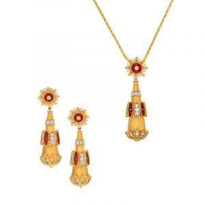 Antique Drop Pendant Necklace