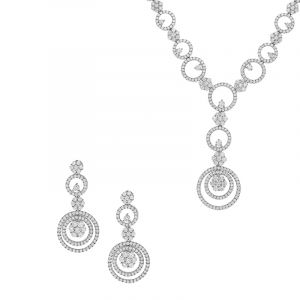 Circular Drops Necklace