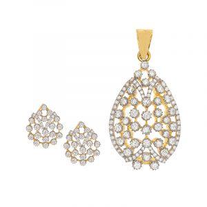 Clusters Diamond Pendant Set