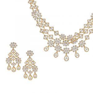 Layered Dangles Diamond Necklace