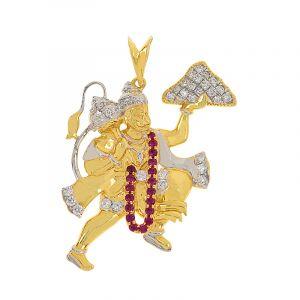 18k Diamond Diamond Hanuman Pendant