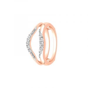 18k Diamond Diamond Ring Rose Wrap