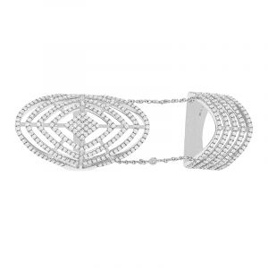 18k Diamond Chained Double Diamond Ring