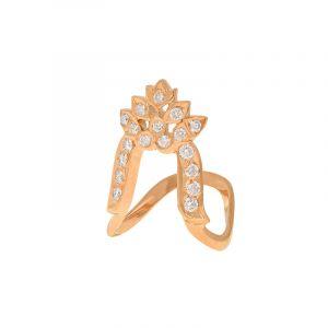 22k Diamond Lotus Vanki Diamond Ring