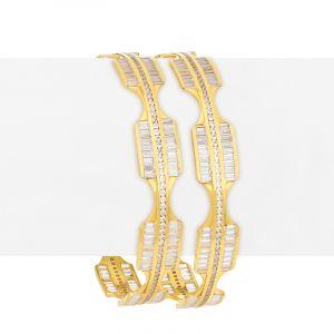 Unique Cz Gold Bangles