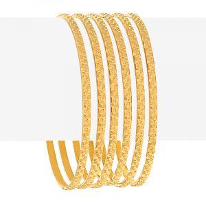 22k Gold Designer Embossed Gold Bangles