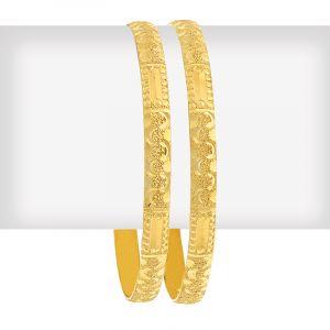 Embross Gold Bangles
