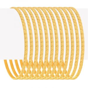 Embossed Gold Bangles