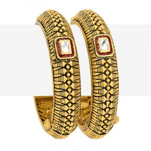 22k Gold Antique Kundan Kadas