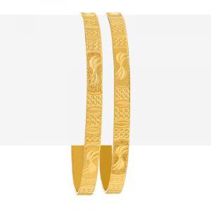 Glitzy Designer Gold Bangles
