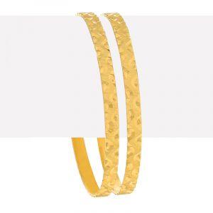 22k Gold Embossed Gold Bangles Set