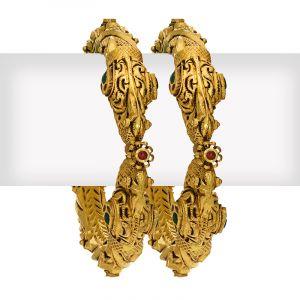 22k Gold Rajwada Designer Antique Kangan