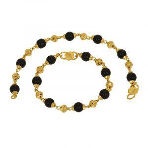 22k Gold Black Beads Baby Nazariya