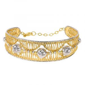 22k Gold 2-Tone Beads Bracelet