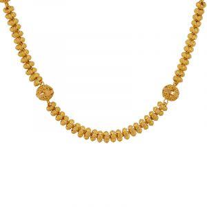 22k Gold Waves Beads Ball Chain
