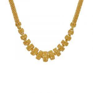 22k Gold Long Mezze Ball Chain