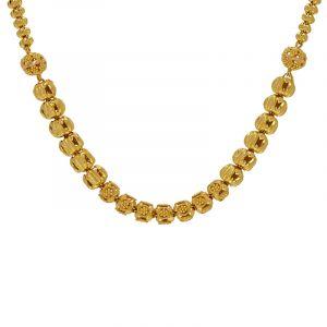 22k Gold Glaze Beads Ball Chain