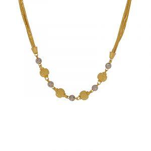 22k Gold Two-Tone Braid Chain
