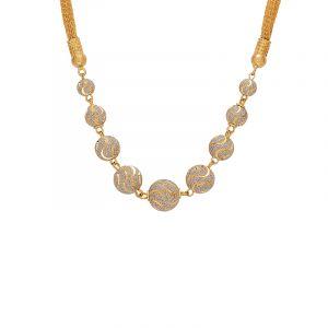 22k Gold Galaxy Beads Braid Chain