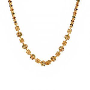 22k Gold Meenakari Beads Long Chain