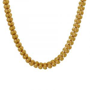 22k Gold Fancy Mesh Bead Chain