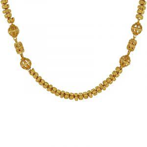 22k Gold Designer Beads Ball Chain