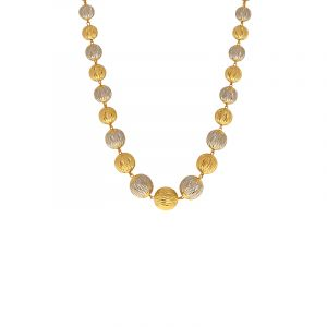 22k Gold Chunky Italian Beads Chain