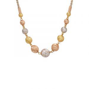 22k Gold Three Tone Beads Chain