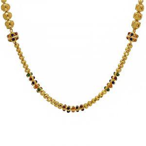 22k Gold Long Meenakari Gold Chain