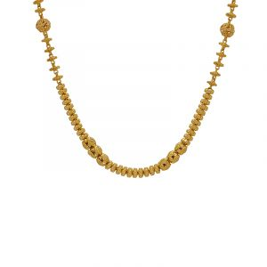 22k Gold Exquisia Textured Beads Necklace