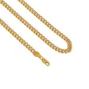 22k Gold 2-Tone Cuban Link Chain