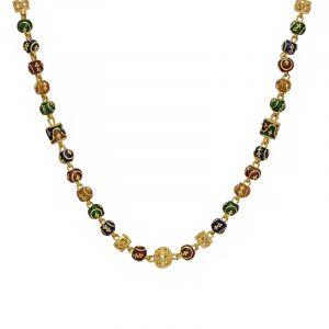 22k Gold Meenakari Fusion Balls Chain