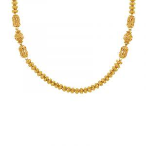 22k Gold Dainty Filigree Bead Chain