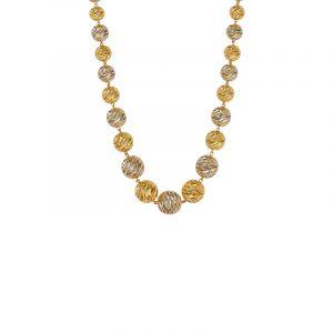 22k Gold Chunky Beads Necklace