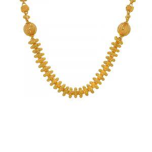 22k Gold Designer Filigree Bead Chain