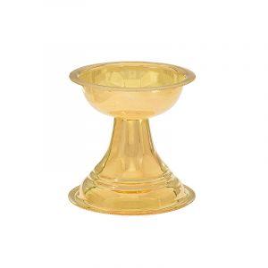 22k Gold Plain Gold Round Diya