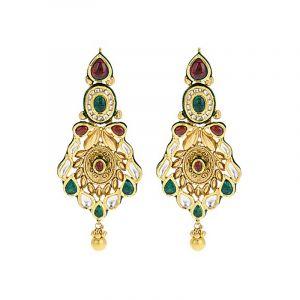 Maharani Antique Gold Earrings