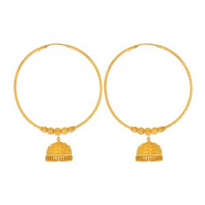 22k Gold Extra Large Jhumka Hoop