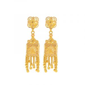 22k Gold Convertible Dangles Jhumkis