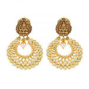 22k Gold Lakshmi Kundan Chand Bali