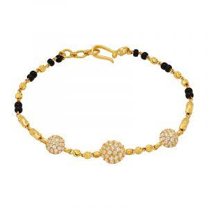 22k Gold Trio Clusters Mangalsutra Bracelet