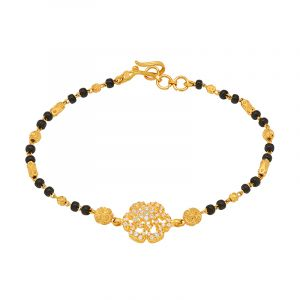 22k Gold Florence Cz Mangalsutra Bracelet