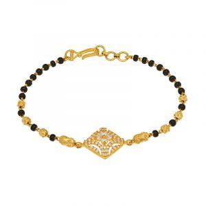 22k Gold Cz Diamonds Mangalsutra Bracelet