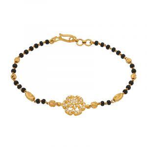 22k Gold Florid CZ Mangalsutra Bracelet
