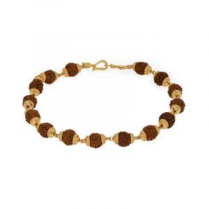 22k Gold Rudraksha Gold Bracelet