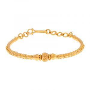22k Gold Filigree Bead Cuff Bracelet