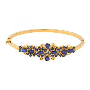22k Gold Sapphire Gems Bangle Bracelet