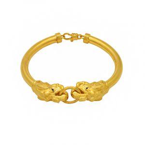 22k Gold Dual Elephant Head Bracelet