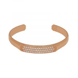 22k Gold Open Cuff Cz Bracelet